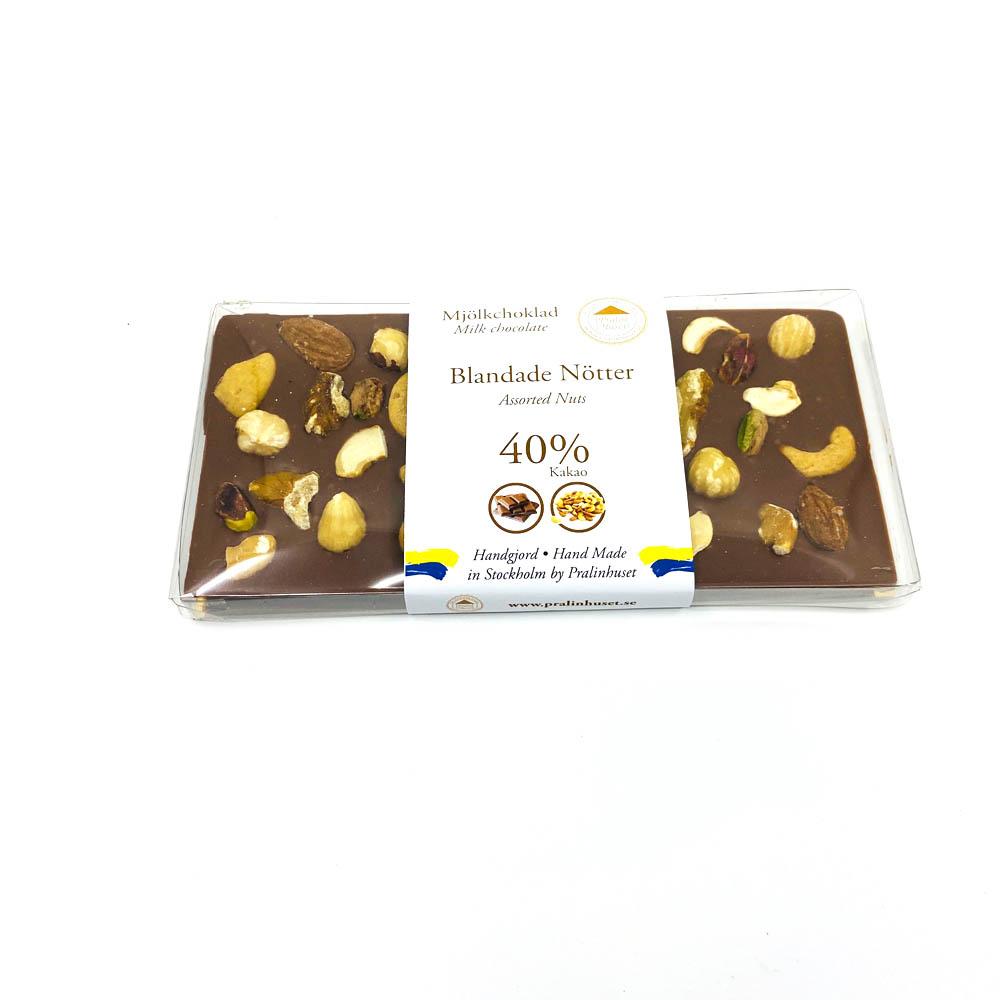 Choklad - Blandade nötter 40%