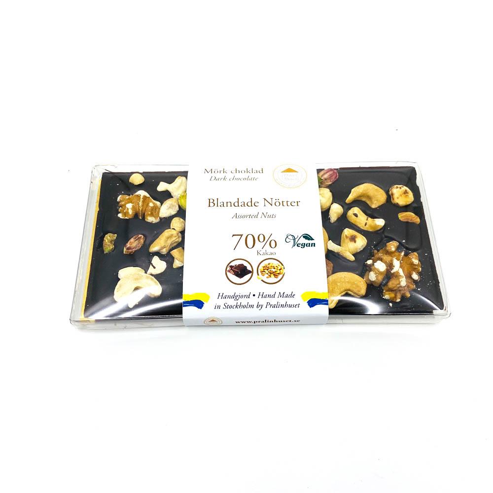 Choklad - Blandade nötter 70%