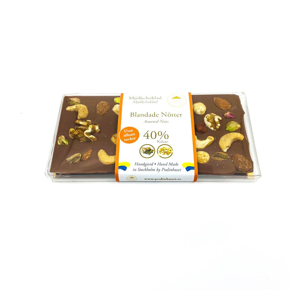 Choklad - Blandade nötter 40% sockerfri